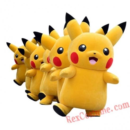 Deluxe Pikachu Mascot Costume Cartoon Character Costumes