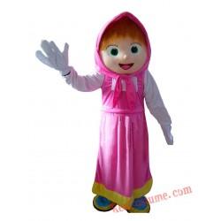 High Quality Girls Mascot Costume Cartoon Character
