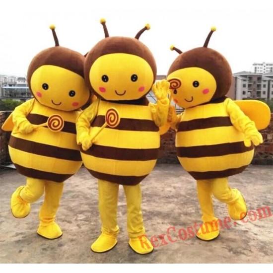 Bee Mascot Costume Yellow Bee Adult Character Costume