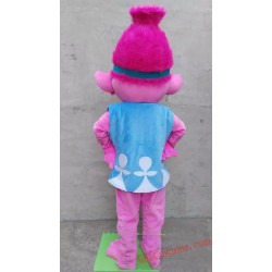 High Quality Deluxe Troll Princess Poppy Mascot Costume