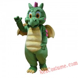 Green Dinosaur Mascot Costume for Adults