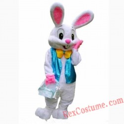 Easter Bunny Rabbit Mascot Costume Adult