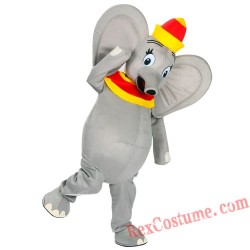 Grey Elephant Mascot Cosutme for Adult