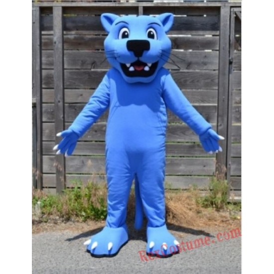 Blue Panther Leopard Mascot Costume for Adult