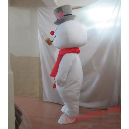 Snowman Mascot Costume for Adult Frosty Snowman Costume