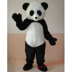 Luxury Plush Simulation Fur Panda Mascot Costumes
