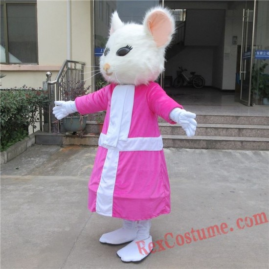 Alice In Wonderland Mouse Mascot Costume for Adult