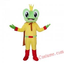 Frog Mascot Costume Cartoon Animal Frog Prince Costumes