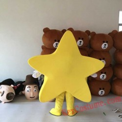 Yellow Star Mascot Costume for Adults