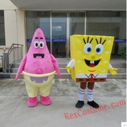Patrick Star / Spongebob Mascot Costume for Adults