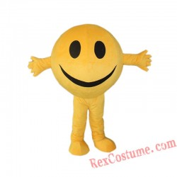 Adult Happy Emoji Smiling Face Mascot Costume for Adults