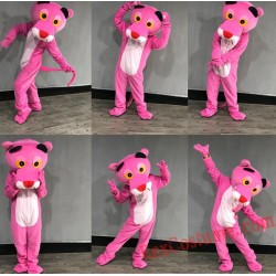 Pink Leopard Panther Adult Mascot Costume for Adult