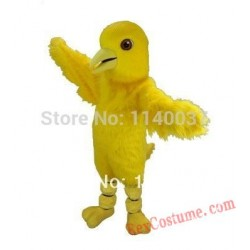 Long Hair Canary Bird Mascot Costume for Adult
