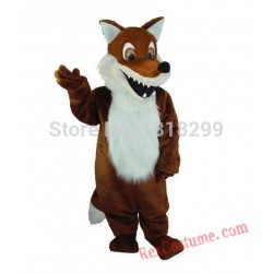 Brown Fox Animal Mascot Costume for Adults
