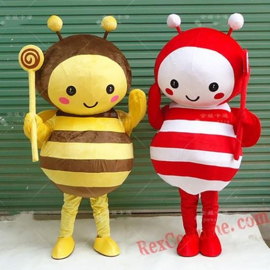 Bee Hornet Mascot Costume Yellow Bee Costume for Adult