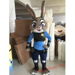 Zootopia Judy Bunny Rabbit Mascot Costume