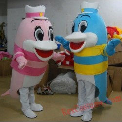 Sea Animal Dolphin Mascot Costume for Adult