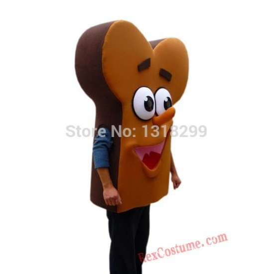 Brown Bread Food Mascot Costume for Adult