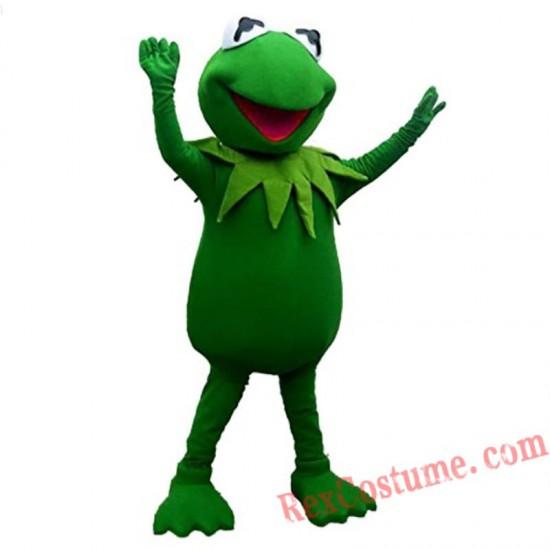Frog Kermit Mascot Costume for Adult