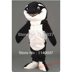 Black Orca Whale Sea Animal Mascot Costume