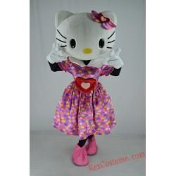 Hellokitty Cat Mascot Costume for Adult