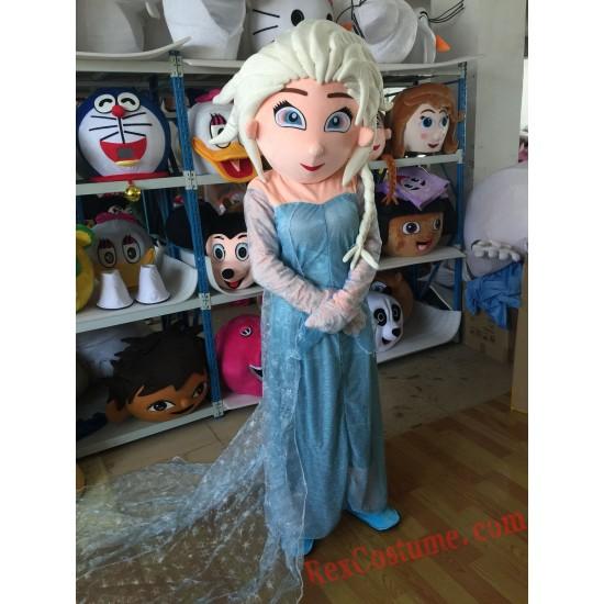 Frozen Elsa Princess Mascot Costume for Adult