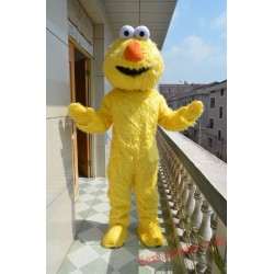 Sesame Street Yellow Zoe Mascot Costume for Adult
