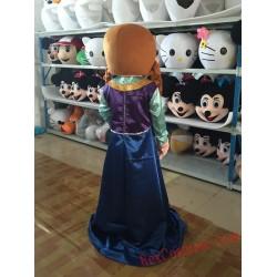 Frozen Anna Princess Mascot Costume for Adult