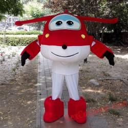 Super Wings Cartoon Mascot Costume for Adult