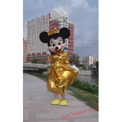 Disney Gold Minnie Mouse Mascot Costume for Adult