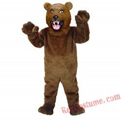 Realistic Bear Mascot Costume for Adult