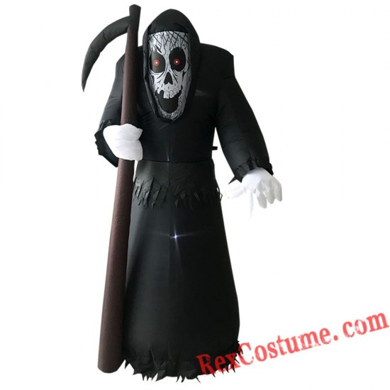 Halloween Inflatable Death Grim Reaper Blow Up Party Decor