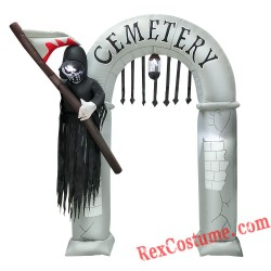 Halloween Inflatable Arch with Grim Reaper Party Decor