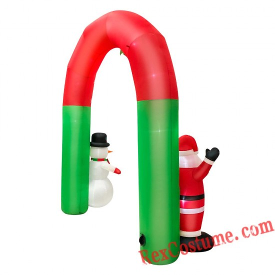 Christmas Inflatable Arch with Santa Claus and Snowman Party Decor