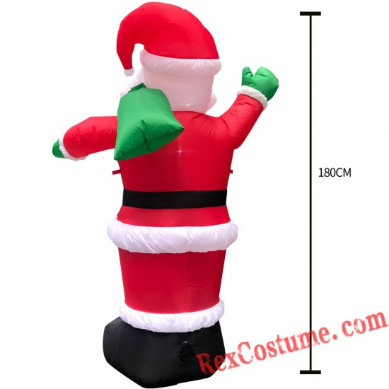 Christmas Inflatable Santa Claus Blow Up Party Decor