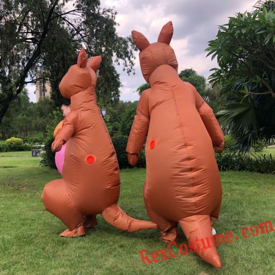 Adult / Kids Inflatable Kangaroo Costumes Blow Up