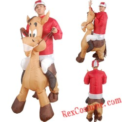 Christmas Donkey Ride On Inflatable Costume