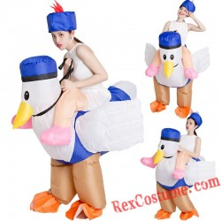 Chicken Duck Ride On Inflatable Costume Adult / Kids