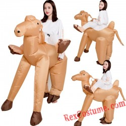Camel Ride On Inflatable Costume Adults