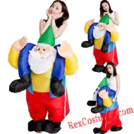 Christmas Santa Claus Inflatable Costume Christmas Suit