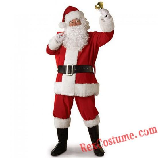 Christmas Santa Claus Costume Santa Suit