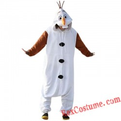 Frozen adult Olaf Snowman Onesies Costume