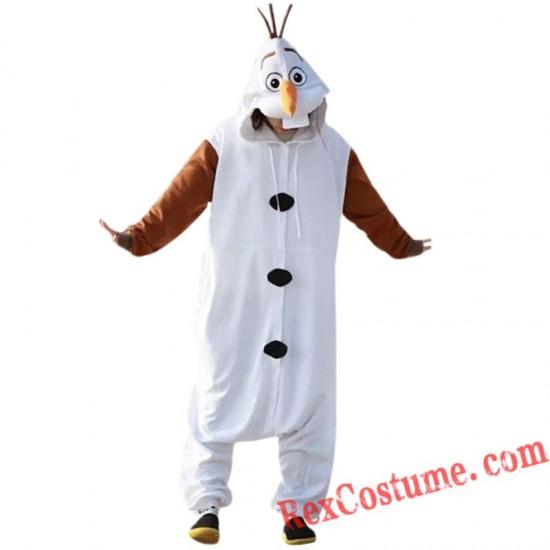 Frozen adult Olaf Snowman Onesies Costume