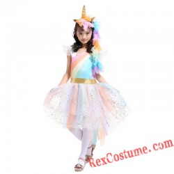 Little Pony Unicorn Princess Girl Dress