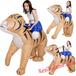 Tiger Ride On Inflatable Blow Up Costume