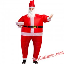 Christmas Santa Claus Inflatable Blow Up Costume