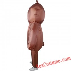 Brown Teddy Bear Inflatable Costume Adults