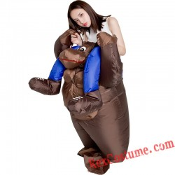 Chimpanzee Ride On Inflatable Costume Adult