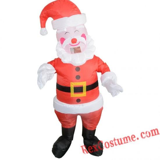 Christmas Santa Claus Inflatable Costume Adult