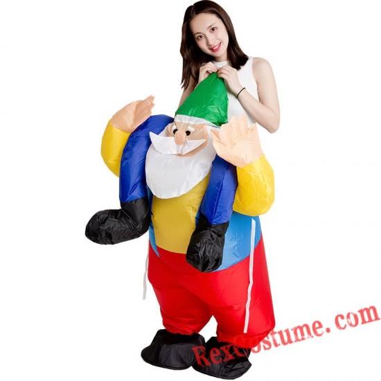 Christmas Santa Claus Inflatable Costume Christmas Suit